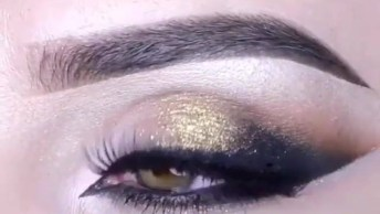 Sombra Dourada Com Esfumado Preto E Marrom, Simplesmente Perfeito!