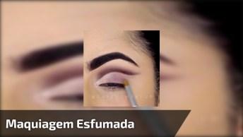 Sombra Esfumada E Com Delineado, Uma Linda Opção De Maquiagem!