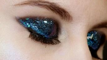 Sombra Feita Com Glitter E Gloss, Olha Só Que Lindo O Resultado!