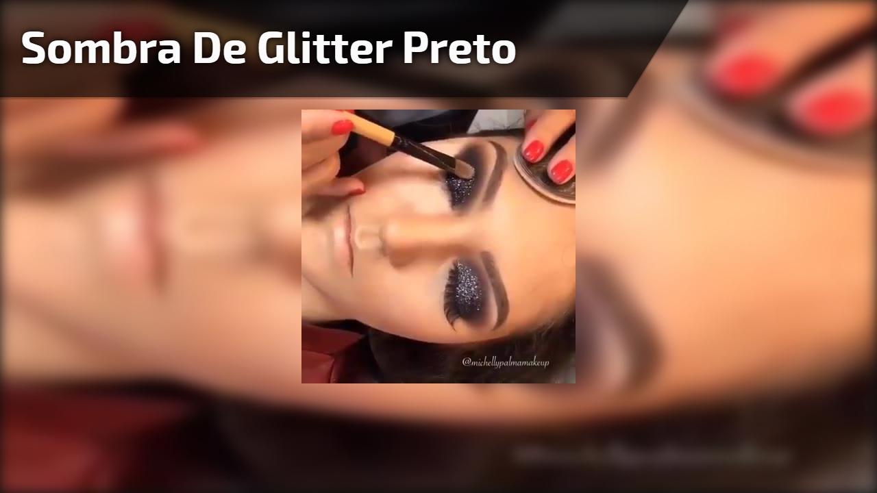Sombra de Glitter Preto
