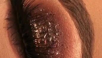 Sombra Marrom Com Glitter Marrom, Uma Perfeição De Sombra, Confira!