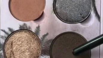Sombra Perfeita Com Detalhes Dourados, Você Vai Se Apaixonar!
