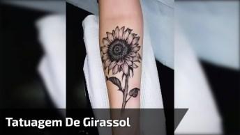 Tatuagem De Girassol Para Te Inspirar, Que Desenho Mais Lindo!