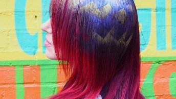 Tatuagem De Glitter Para Cabelos, Olha Só Que Lindo Esta Ideia!