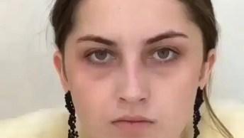 Transformação Com Maquiagem, O Resultado Impressiona, Veja Que Linda!