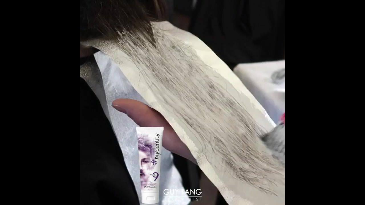 Transformação de cabelo castanho para cor marsala
