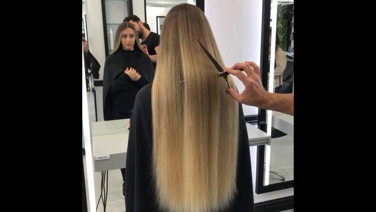 Transformação de cabelo castanho para loiro