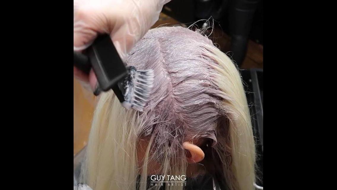 Transformação de cabelo loiro para rosa gold, olha só que maravilhoso!!!
