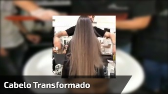 Transformação De Cabelo Longo Castanho, Para Cabelo Com Cor Clara!