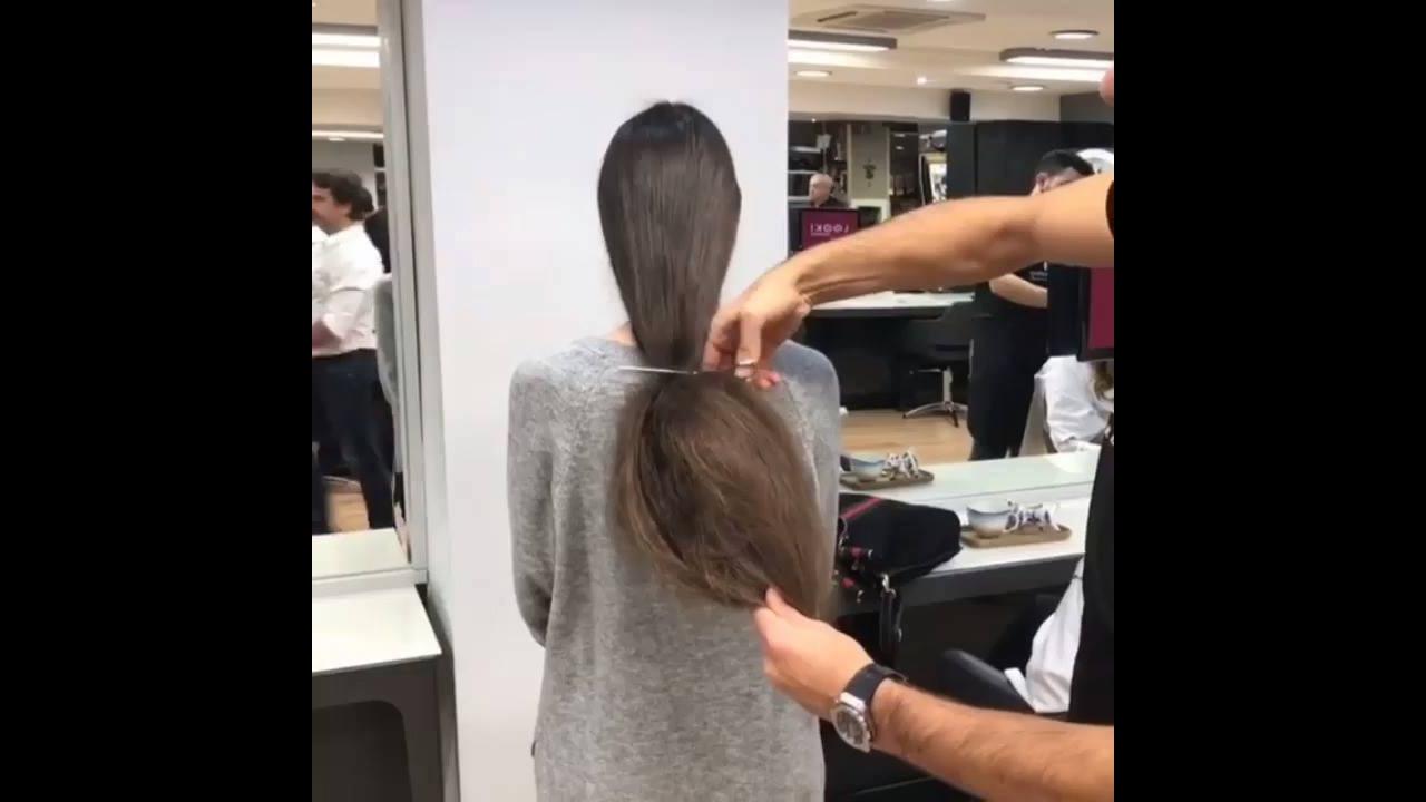 Transformação de cabelos com corte e coloração