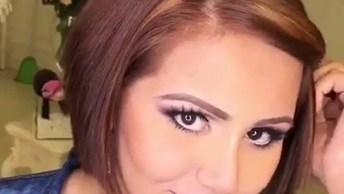 Transformação De Cabelos Lindo, Com Maquiagem Perfeita Para Acompanhar!