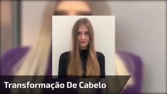 Transformação De Cor De Cabelo, Veja Que Cor Mais Linda De Loiro!