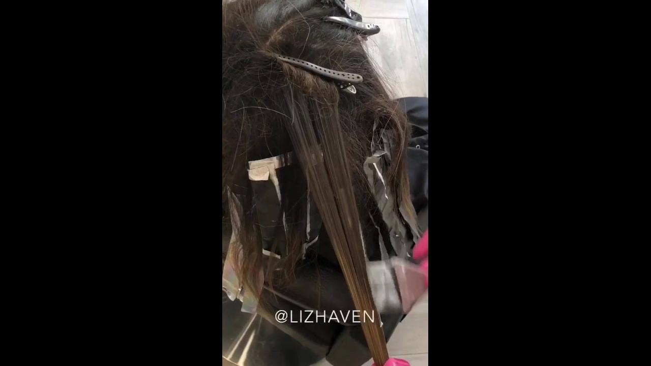Transformação de cor de cabelo
