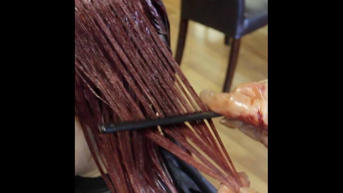 transformação de cor de cabelo, veja que lindo salmão em degradê!!!