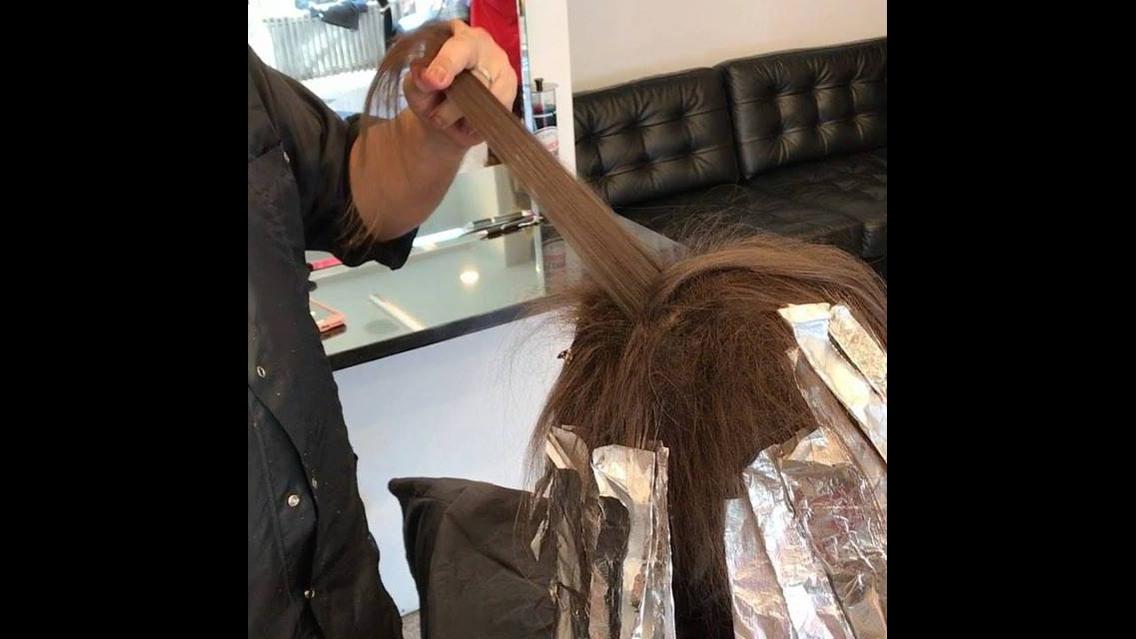 Transformação de cor no cabelo com ombre hair