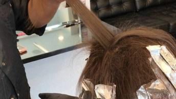Transformação De Cor No Cabelo Com Ombre Hair, Ficou Perfeito!