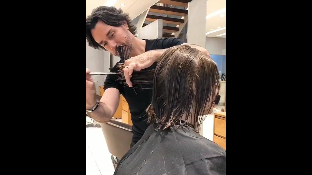 Transformação de corte de cabelo