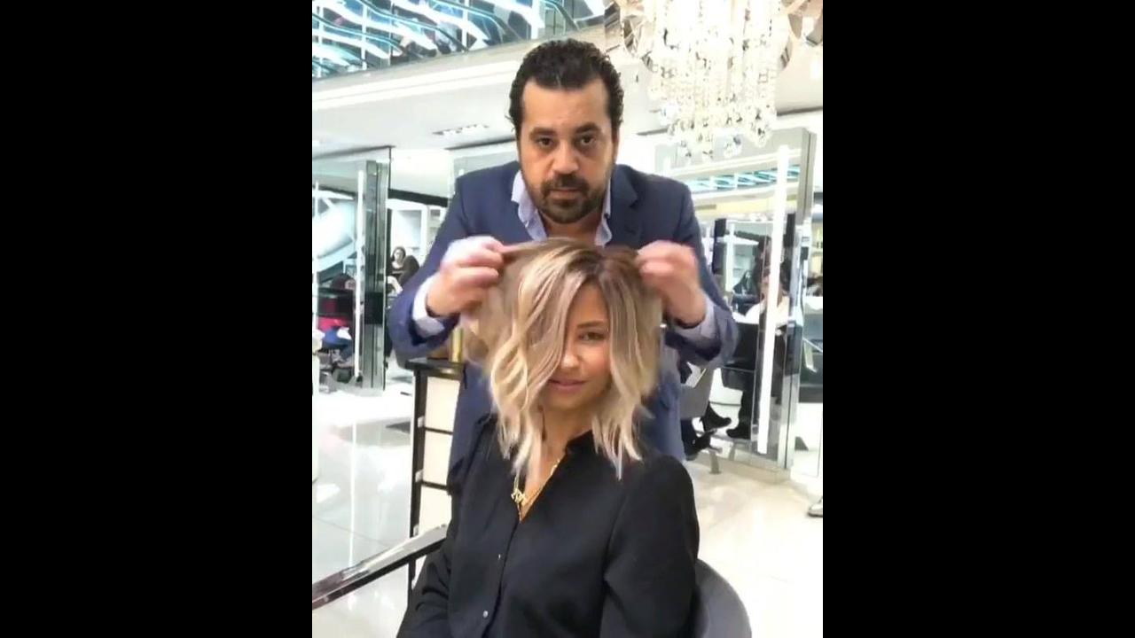 Transformação de corte e cor de cabelo longo para curto, simplesmente lindo!!!