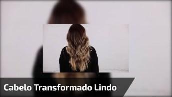 Transformação De Corte E Cor De Cabelo, Veja Que Linda Morena Iluminada!