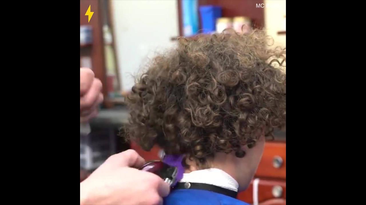 Transformação de homens no cabeleireiro
