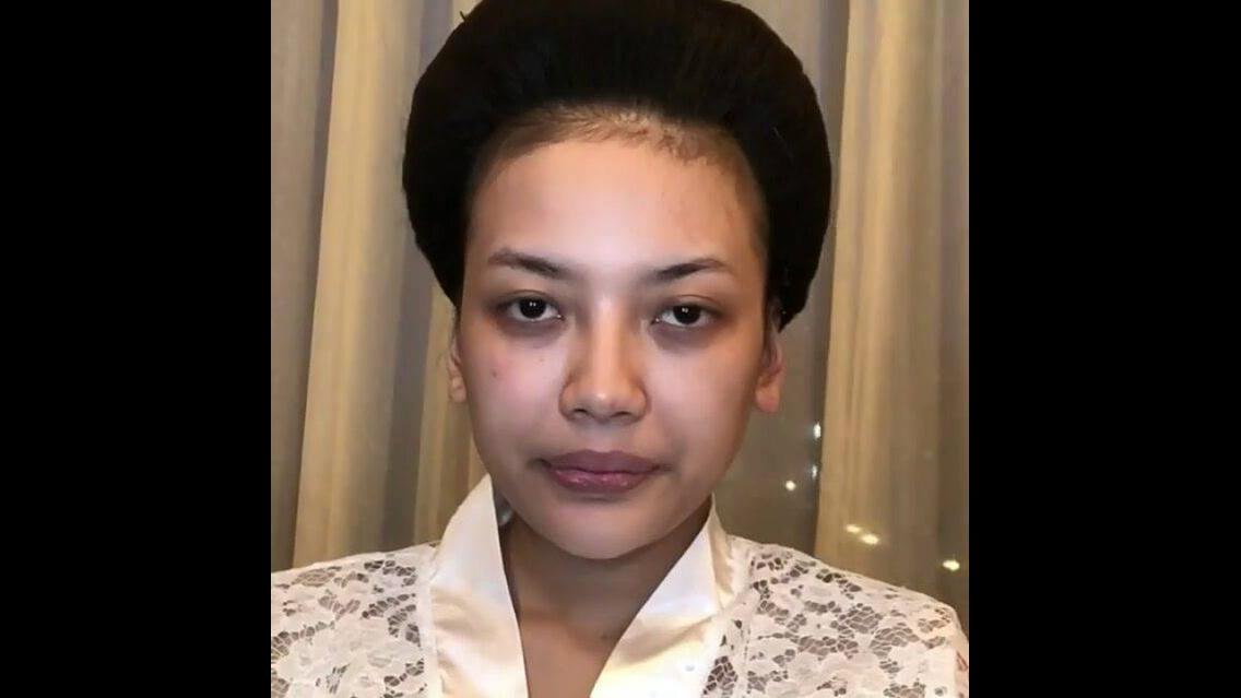 Transformação de maquiagem