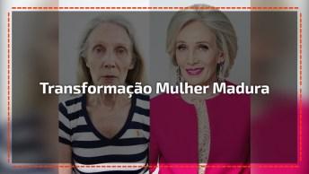 Transformação Em Mulher Madura. O Resultado É Perfeito, Confira!