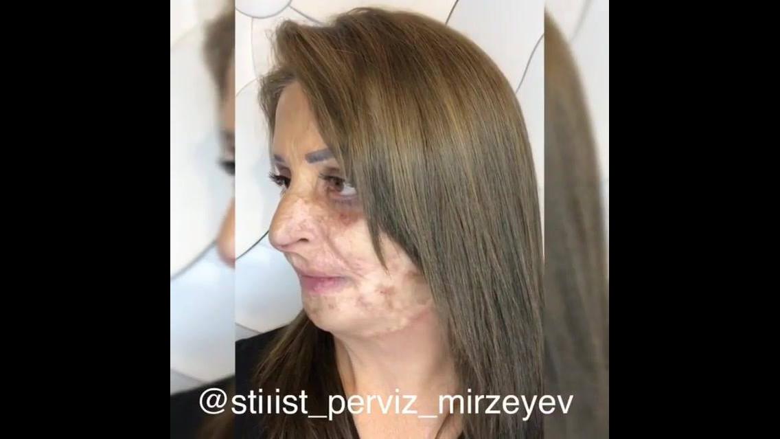 Transformação incrível com maquiagem e cabelo