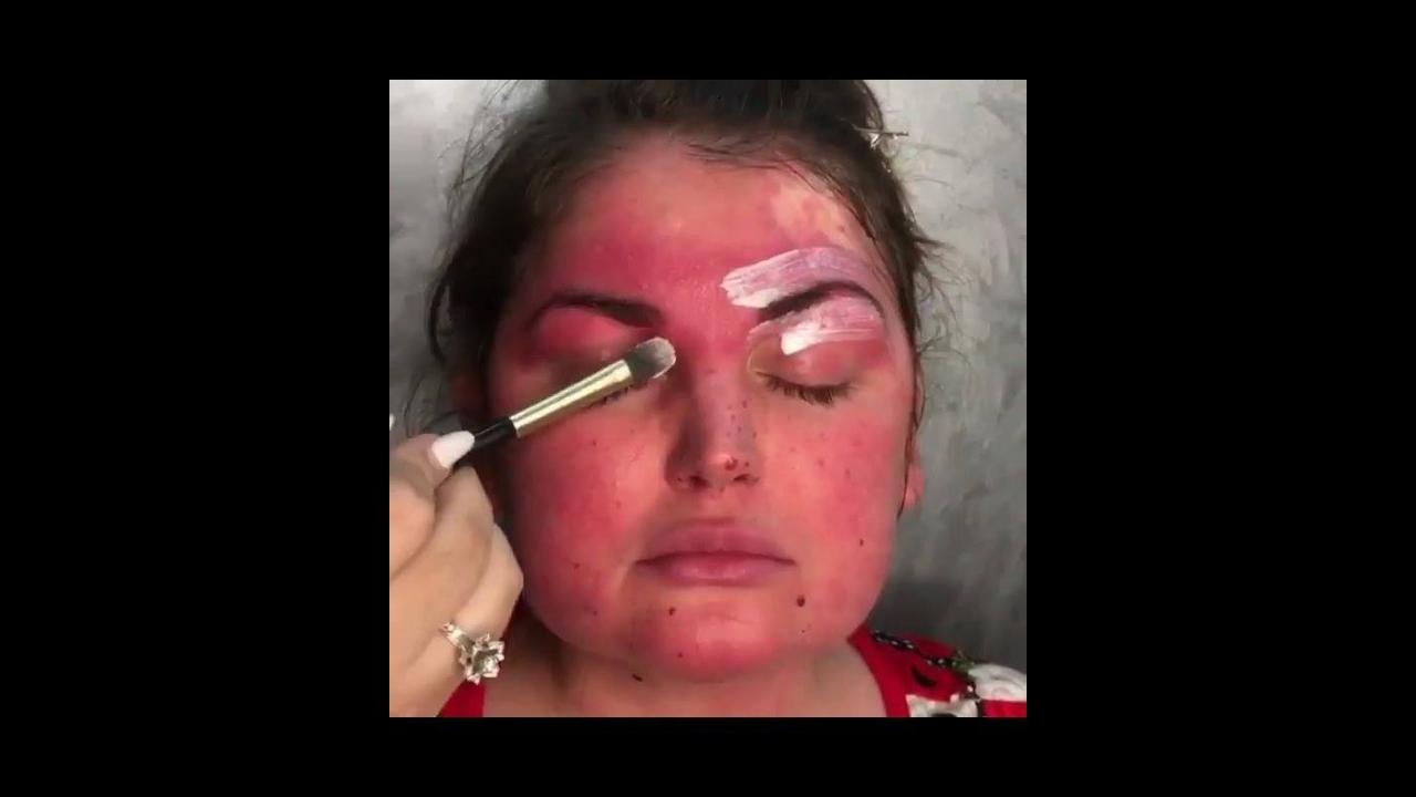 Transformação maravilhosa feita com maquiagem