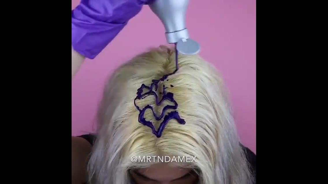 Transformações com cabelos coloridos