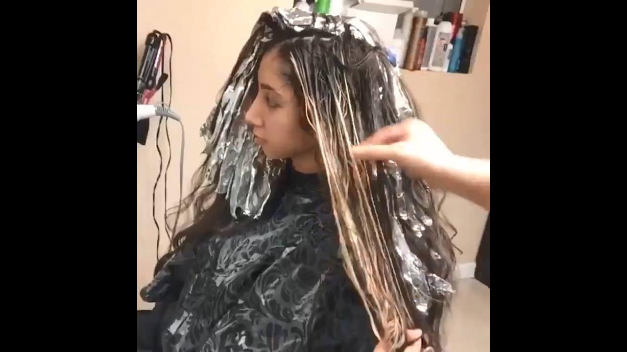 Transformações de cores de cabelos