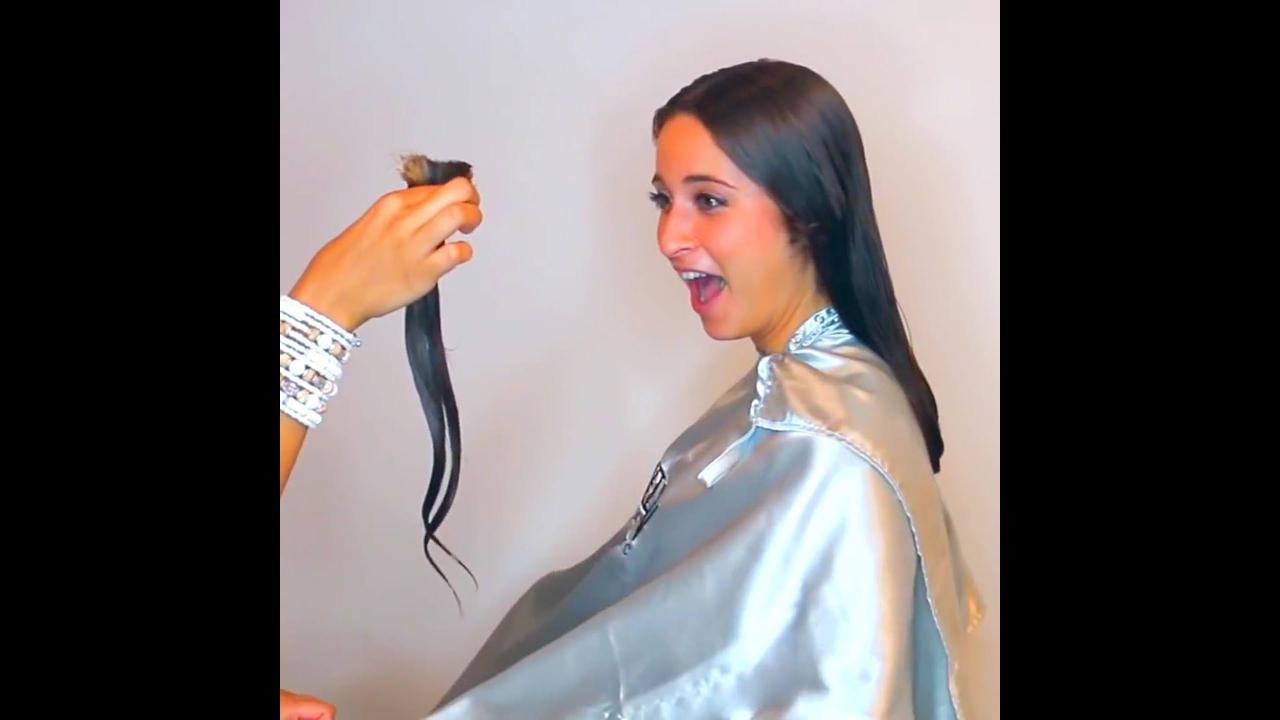 Transformando cabelo longo em um lindo cabelo médio