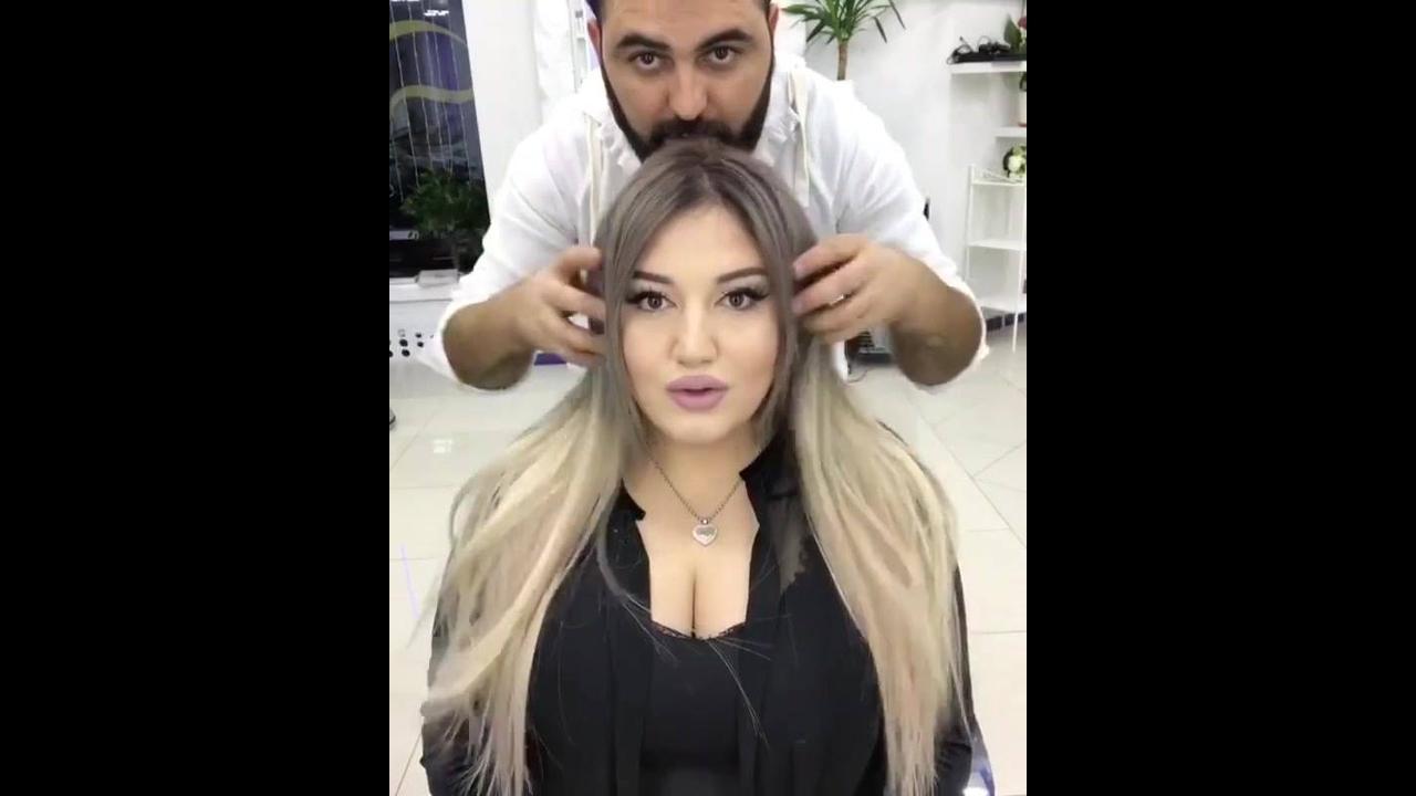 Transformando os cabelos com aplique de fita adesiva