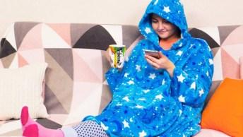 Transforme Um Cobertor Em Uma Camisola Aconchegante, Perfeito Para Os Dias Frios