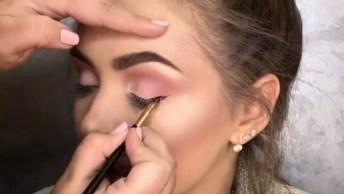 Tutoriais De Maquiagem Uma Com Sobra Verde, E Outra Com Sombra Rosa Neutra!