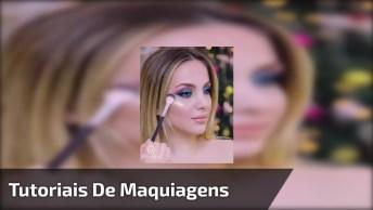 Tutoriais De Maquiagens Com Diferentes Cores De Batons E Sombras!