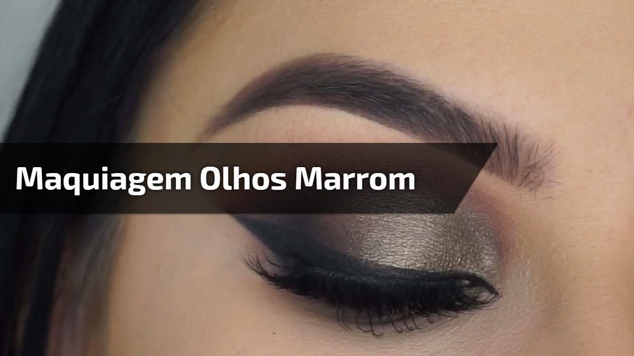 Maquiagem olhos marrom