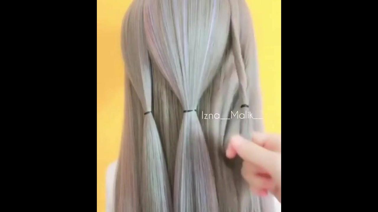 Tutorial curto de penteado para cabelos longos super fácil de fazer
