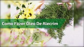 Tutorial De Como Fazer Oleo De Alecrim Para Crescer Cabelos E Sobrancelhas!