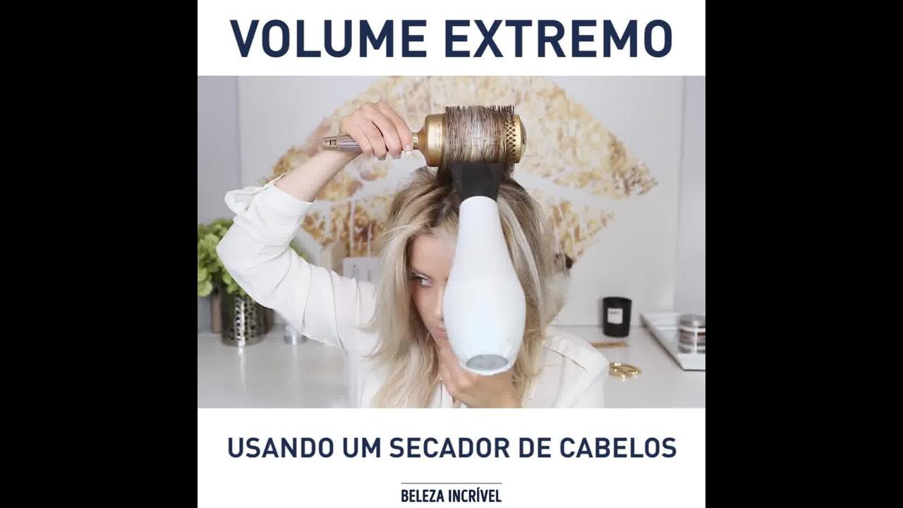 Tutorial de como secar os cabelos para dar volume