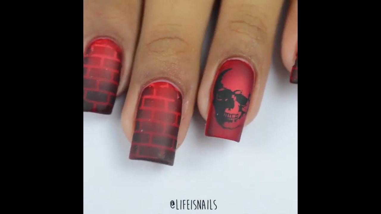 Tutorial de decoração de unhas para Halloween