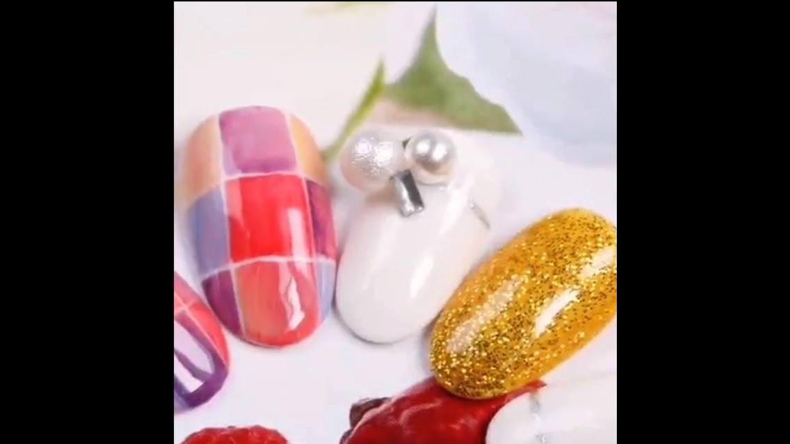 Tutorial de decoração de unhas, veja que desenhos mais lindos!!!