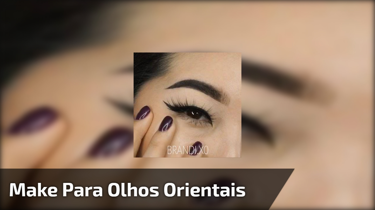 Make para olhos orientais