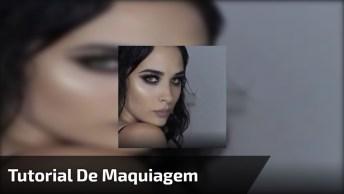 Tutorial De Linda Maquiagem Com Sombra Preta E Marrom, Confira!