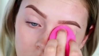 Tutorial De Maquiagem Com Batom Rosa, Que Arraso Esse Batom!