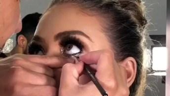 Tutorial De Maquiagem Com Brilho, Mais Um Vídeo De Make Sensacional!