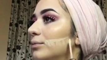 Tutorial De Maquiagem Com Cílios Postiços, Um Arraso De Make!