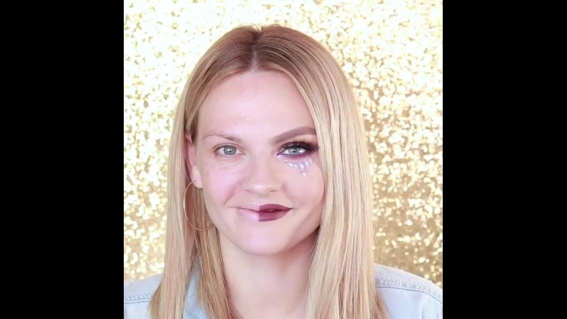 Tutorial de maquiagem com detalhe especial abaixo dos olhos
