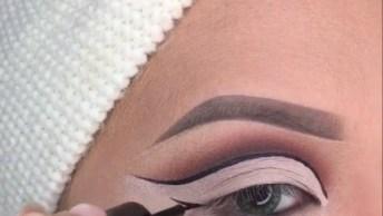 Tutorial De Maquiagem Com Glitter E Contorno Nas Pálpebras Que É Tendencia!