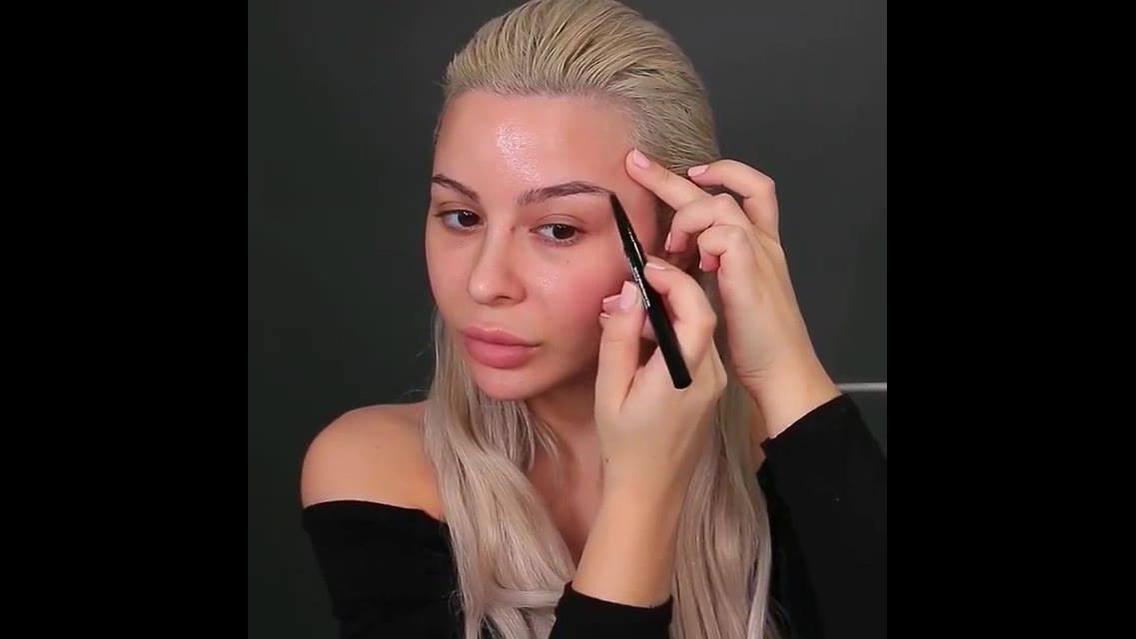 Tutorial de Maquiagem com sobrancelha e contorno
