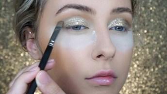 Tutorial De Maquiagem Com Sombra Dourada, Essa É Para Arrasar!